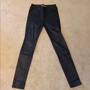 True Religion Super Skinny leather jeans